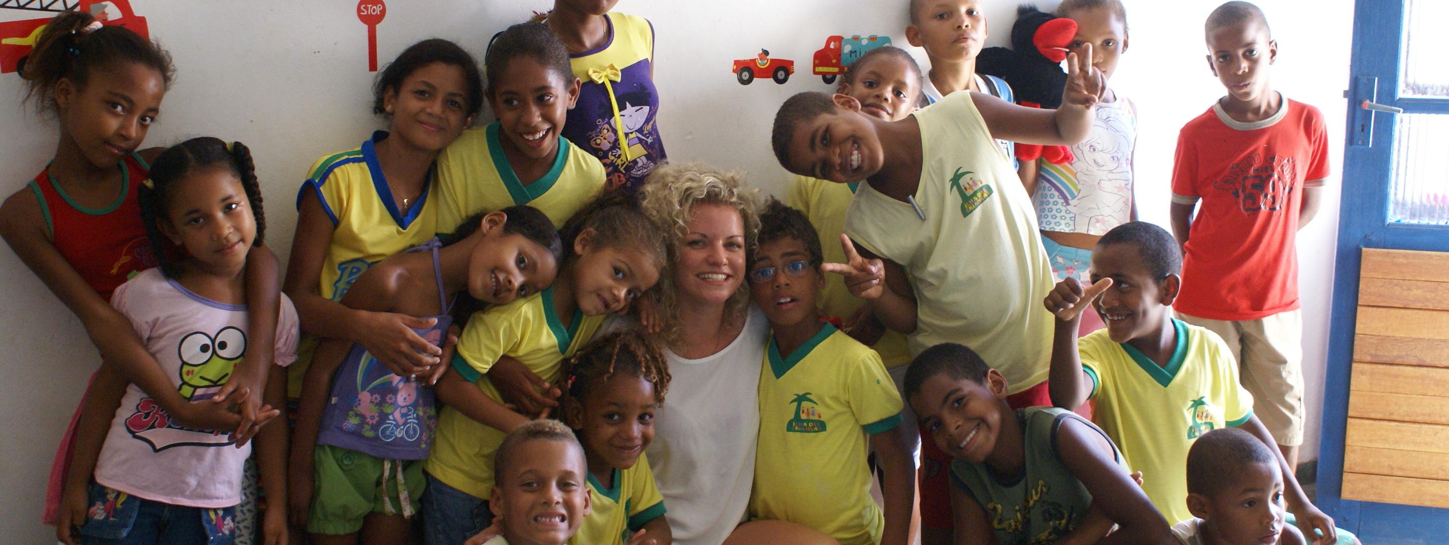 Geschäftsführerin Ulrike Kramer verbringt viel Zeit mit den Kindern vor Ort
