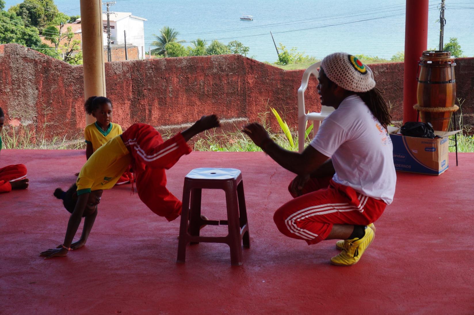 Capoeira fördert die Konzentration und das Körperbewusstsein