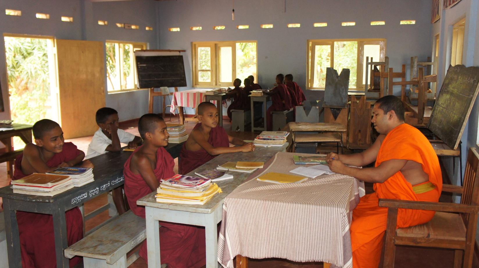 Unterricht in der Mönchsschule